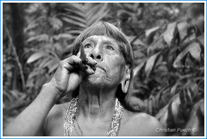 Christian Puech Indien Huarani d'Amazonie équatorienne